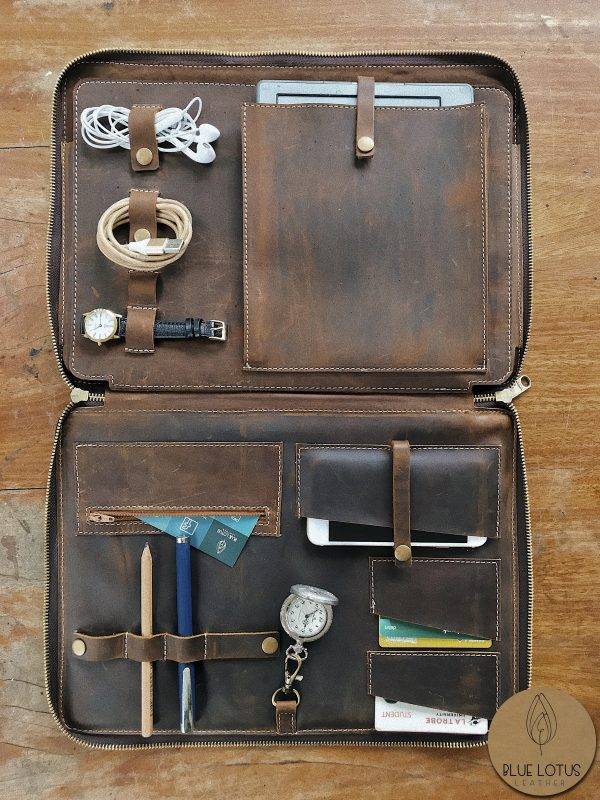 macbook leather case with accessories