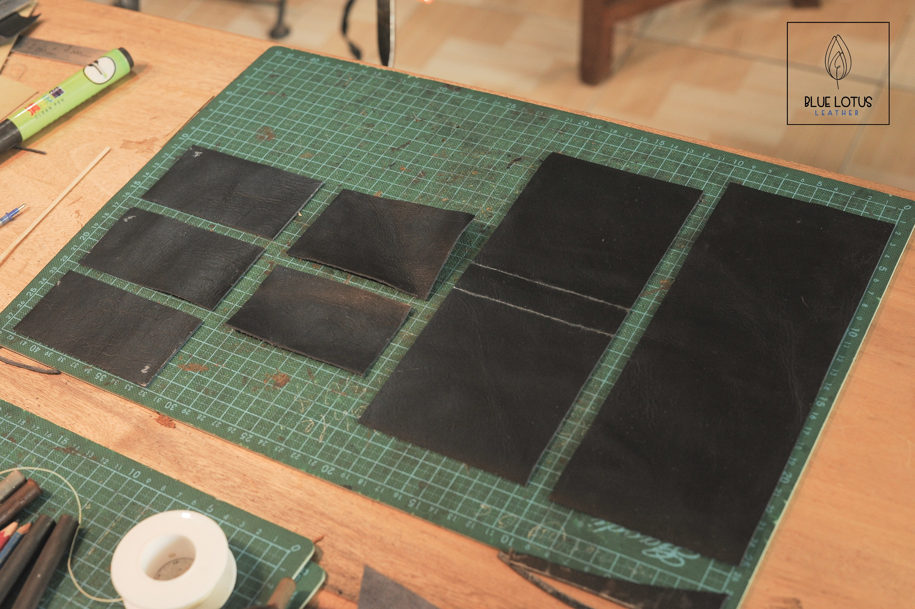 how to make DIY leather handmade men wallet